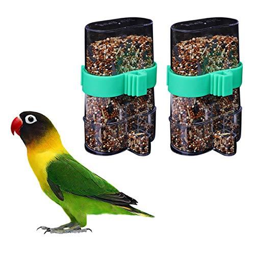 POPETPOP Vogel Wasserspender-2PCS Automatischer Vogelhäuschen-Papagei-Trinkflaschen-Zufuhr-Haustier-Vogel-Doppelt-Gebrauch-Vogelfutter-Zufuhr