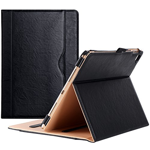 ProCase iPad Pro 9.7 Case Cover - Premium PU Leather Stand Folio Case for Apple iPad Pro 9.7 Inch 2016 (A1673 A1674 A1675), with Pencil holder Document Card Pocket -Black