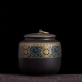 ZHTY Pot à thé en céramique Vintage Style Chinois bocaux de Rangement thé Noble canettes boîte à thé Traditionnel Couvercl...