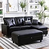 Honbay Convertible Sectional Couch With Ottoman