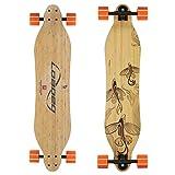 Loaded Boards Vanguard Bamboo Longboard Skateboard Complete (80a in Heat, Flex 2)