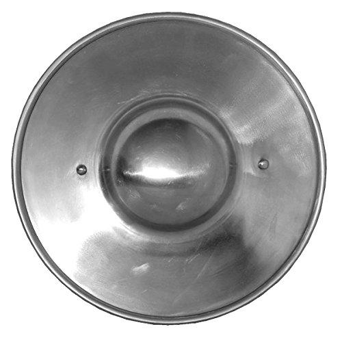 GDFB Mittelalter Buckler mit Holzgriff - flach - Durchmesser 23 cm, LARP, Reenactment