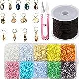 MMYAN DIY Kit de cuentas de cristal de cuentas conjunto joyería hecho a mano cuentas de vidrio colorido pulsera haciendo cuentas para hacer joyas accesorios