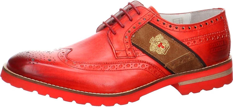 Melvin & Hamilton MH MH MH Hand Made skor of Class herrar 130 -50 -10030 Lace -Up Flats röd Storlek  9.5 Storbritannien  kreditgaranti