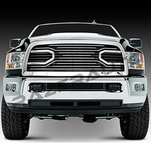 GSI 10-18 Dodge RAM 2500/3500/4500/5500 Big Horn Chrome Grille W/Replacement Shell Packaged Grille (Chrome/Black)