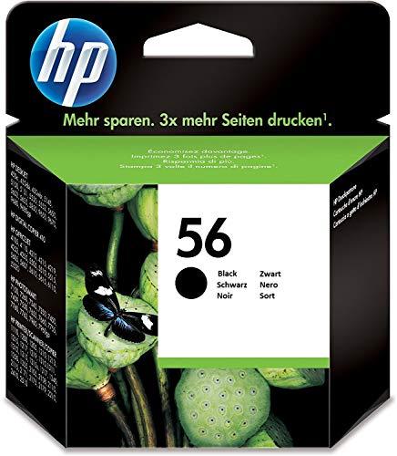 HP C6656AE 56 Cartucho de Tinta Original, 1 unidad, negro