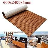 Alfombra Barco 600x2400x5mm Marrón Negro Plataforma para pisos Barco Casco Eva Espuma Suelo marino Faux Decking Hoja adhesiva