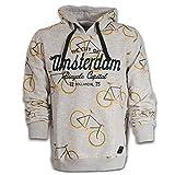 Amsterdam Sudadera con capucha para todas las bicicletas, color gris ceniza