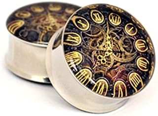 nugroho_mys Pair of Steampunk Clock Plugs gauges