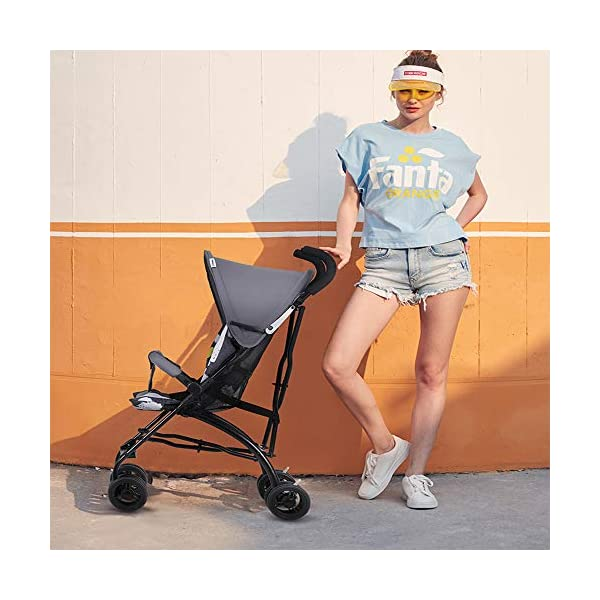 Makeups One-Handed Folding Stroller Height-Adjustable Stroller 0+ Group Is Suitable for Crib Up To 15 Kg with Umbrella Colour: Black Makeups The 3-in-1 car is suitable for the birth of a baby. 3-piece car-a car seat from a month to 15 kg, a large crib and a stroller that can be used for a long time. Easy to fold: A case that can be easily and quickly folded with only one hand. The size is reduced, which is ideal for travel and trunk space. With a compact chassis, easy to fold, can carry a crib, can be used from birth, and includes group 0. This is the ideal stroller for your baby. 2