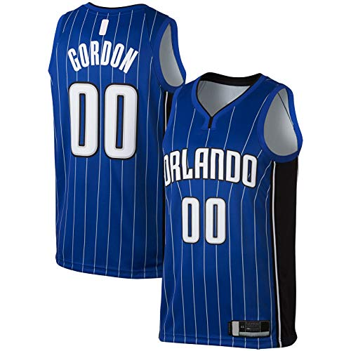 XIANER Aaron Sportswear Gordon - Camiseta de baloncesto de manga corta Orlando #00 Replica Swingman Jersey Azul - Icono Edition-XXL