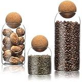 Harmony 4 Home® Vorratsgläser mit Deckel im 3er Set | aus Borosilikatglas & Kork | Glas mit Korkdeckel zur Aufbewahrung in der Küche | ideal für Müsli, Mehl, Nudeln & Co