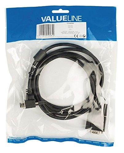 Valueline VGA Kabel VGA Stecker auf VGA Stecker 90 Grad gewinkelt 2m schwarz