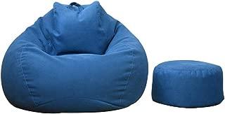 ビーズクッション 特大 座布団 人をダメにするソファ 一人掛け ビーズソファ 足枕が付くセット 80*90cm もちもち 低反発 クッション 洗える ブルー
