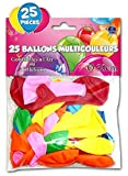 25 BALLONS BAUDRUCHES - DECO SALLE - Haute qualité - Garantie air et hélium (MULTI-COLOR)