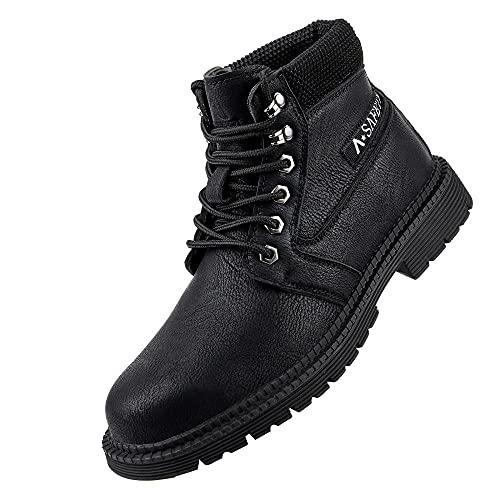 Zapatos de Seguridad Hombre Mujer,Seguridad para Hombre con Puntera de Acero Zapatillas de Seguridad Trabajo, Calzado de Industrial y Deportiva,Black▁48
