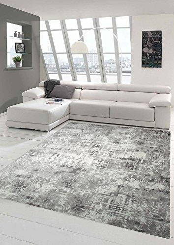 Designer und Moderner Teppich Wohnzimmerteppich in Beige Creme Grau Größe 160x230 cm