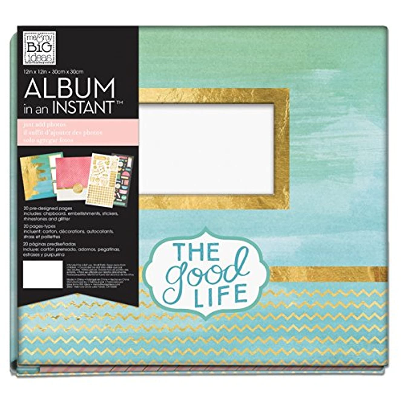 me & my BIG ideas Caribbean Bliss Album-in-an-Instant, 12-Inch by 12-Inch