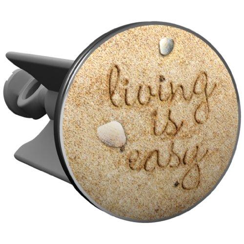 Plopp Waschbeckenstöpsel living is easy, Stöpsel, Excenter Stopfen, für Waschbecken, Waschtisch, Abfluss