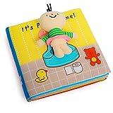 Raniaco Fühlbuch Baby, It's Potty Time - Babybuch, 7 Seiten mit kleine Puppe, Quietschem Papier für Babys und Kleinkinder ab 3 Monate (Potty)