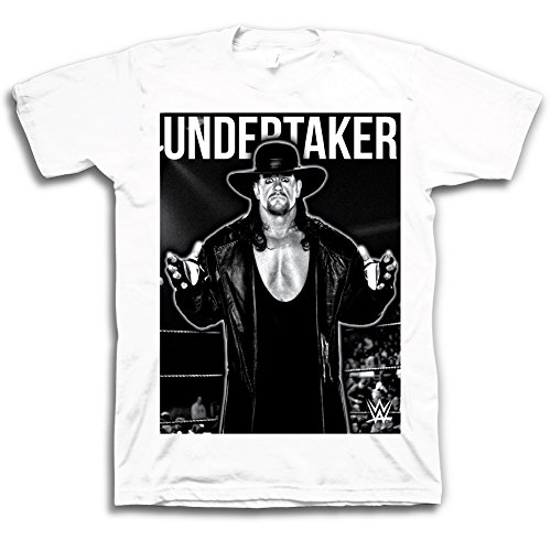 WWE Undertaker The Phenom Portrait T-shirt pour adulte Blanc - Blanc - Large