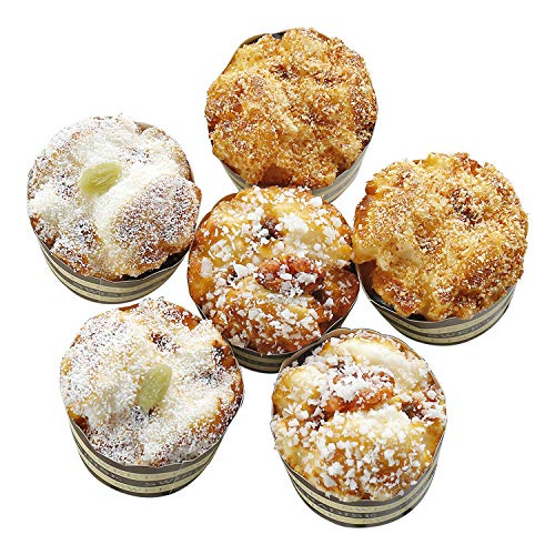 6 Pieces Fake Cupcakes Bread Decor, Simulation Artificial Fake Cakes Kitchen Toy Food Dessert Display Props