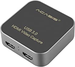 Acasis AC-HDCP USB 3.0 HDMI to Type-C Capture Card 1080P HD Video Box Drive-Free for TV PC PS4 Game Live Stream for Window...