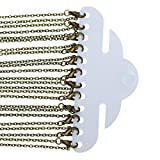PEPPERLONELY Brand 12PC Antique Bronze Jewelry Necklace Cable Chains Lobster Clasp 24-3/8 Inch