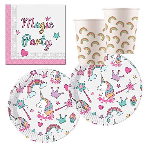 Procos- Set de fiesta unicornio Magic Party, Multicolor (10118521)