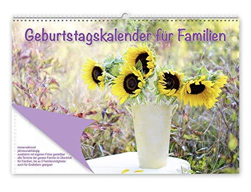 Geburtstagskalender für Familien: Immerwährender, jahresunabhängiger Kalender