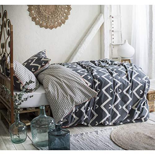 Funda nórdica Karma, hippie Chic 220 x 240 cm, para 2 personas, 100% algodón de 57 hilos, tejido muy apretado.