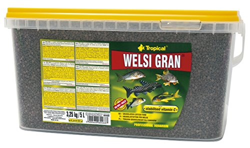 Tropical Welsi Gran Granulat für Bodenfressende Zierfische, 1er Pack (1 x 5 l)