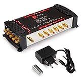 Opticum - Commutatore OMS 5/12 PRO per la ricezione di una posizione satellitare fino a 12 utenti/contatti dorati/4K, 3D, UHD/Quattro LNB
