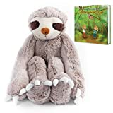 Stuffed Animal Sloth Toy Ultra Soft. Perfect for Baby, Children, Kids, Adult,, with Clasp-able Hands, Organic Material,Safe 20.5' Armspan, 15' Tall