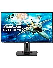 ASUS VG278Q 27 Inch FHD (1980 x 1080) eSport Gaming Monitor, 1 ms, Up to 144 Hz, DP, HDMI, DVI, FreeSync, Low Blue Light, Flicker Free, TUV Certified, Black