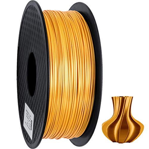 PLA Filament 1.75mm, Silk Style Filament, Geeetech 3D Printer Shine PLA Filament,1kg per Spool,Silk Gold