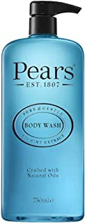 Pears Pure & Gentle Body Wash with Mint Extract, 750 ml