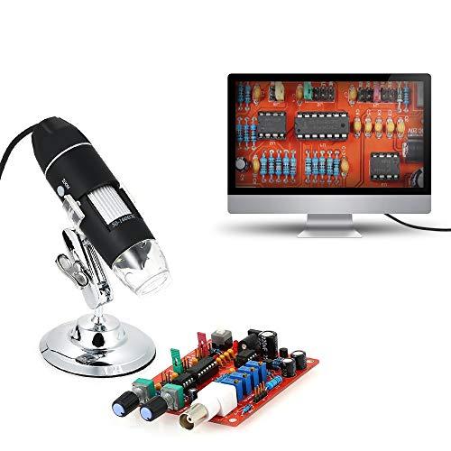 SIMNO JIAHONG Lupa de 1600X de Aumento Microscopio Digital USB con función OTG Luz Lupa Lupa con Soporte Herramienta de Lectura Mayores (Magnification : 1600X)