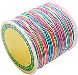ROSENICE 100m Schmuckherstellung Schnur Perlen Kordel 1mm bastelschnur für Armbänder Halsketten...