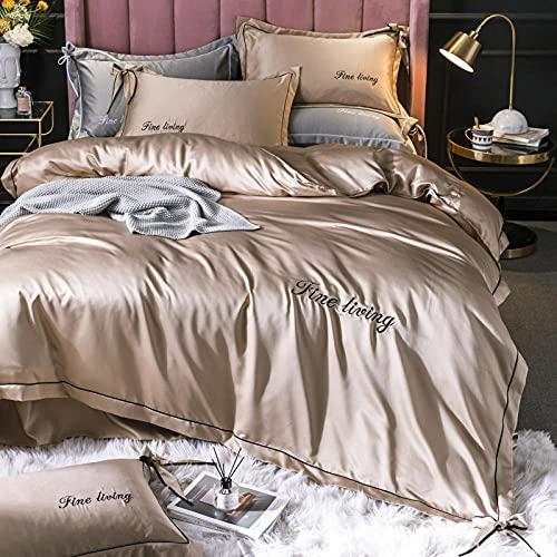 Juego De Ropa De Cama 160x200,Los suministros de seda, el estilo de la princesa de verano, sedosa, sedosa, sábanas extragrandes, rey, doble, cubierta de almohada, niños, niñas, regalos de la habitaci