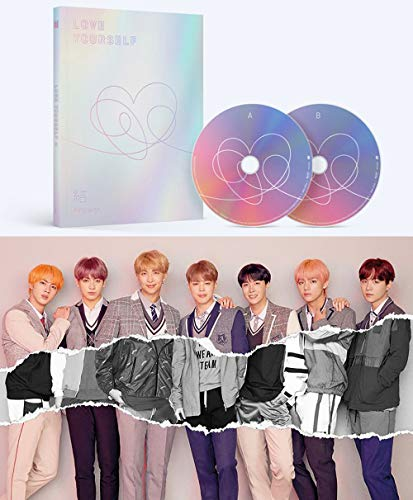 BTS Love Yourself Answer (L Version) Bangtan Boys Album 2CDs+Poster+Photobook+Mini Book+Photocard+Sticker Pack+Gift (Extra 6 Photocards Set)