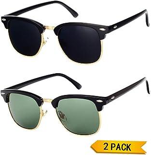 1dcd4194e69 Pro Acme Classic Semi Rimless Polarized Sunglasses with Metal Rivets