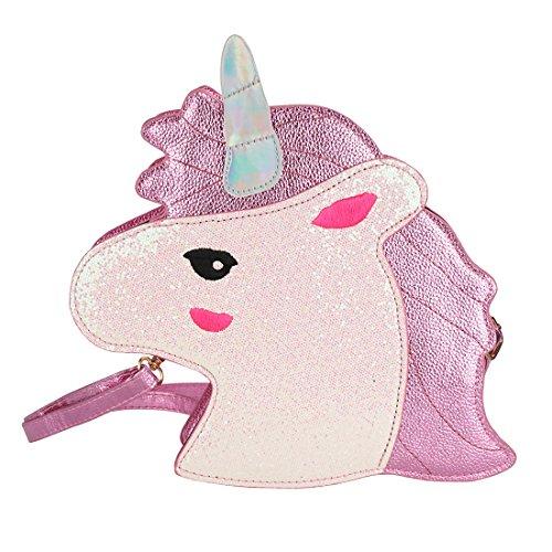 CoolChange glitzer Einhorn Handtasche, Pink