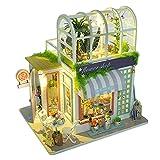 FITYLE DIY Puppenhaus Holz Handwerk Kits Handgefertigte Holz Puppenhaus Miniatur Möbel Kit Puzzles Gartenhaus Zimmer Geschenk Spielzeug