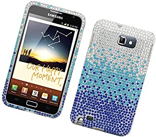 Eagle Cell PDSAMI717F381 RingBling Brilliant Diamond Case for Samsung Galaxy Note i717 - Retail Packaging - Blue Waterfall