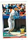 Mike Piazza baseball card 1994 Topps All Rookie Team #1 (Los Angeles Dodgers - Mets Star) rookie card. rookie card picture
