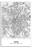 Zulumaps Poster 20x30cm Stadtplan Leipzig - Hochwertiger