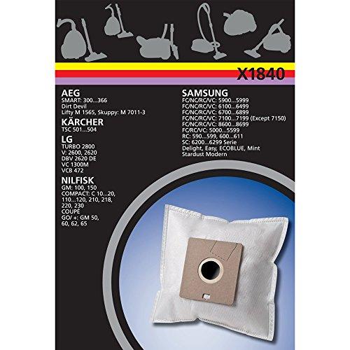 Electrolux X1840 X-Range 4 Staubbeutel Synthetik, u.a. für AEG AB34, Clatronic, Dirtdevil M7006, M7009, M7012, M7117, M7120, M7122