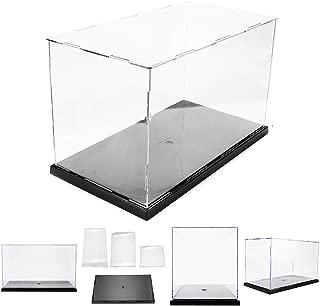Yvetti Model Display Case Clear Acrylic Dustproof Action Figure Model Display Box Cube Organizer Showcase DIY Assemble Countertop Box for Car Boat Toy Model