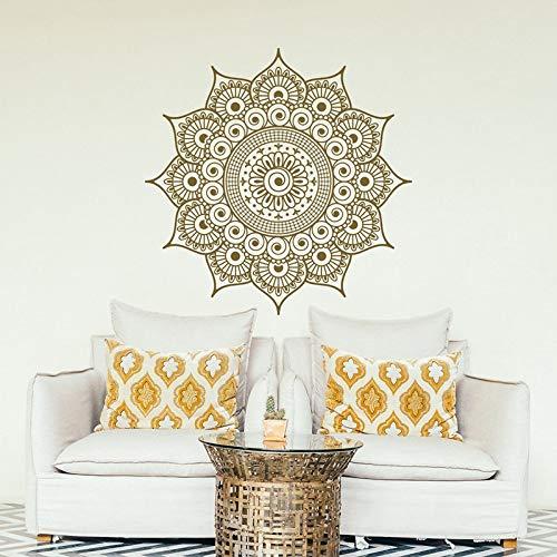 Pegatina de pared Mandala Bohemia Mandala Wall Art Decal Yoga Studio Adhesivo de pared extraíble A1 57 x 57 cm